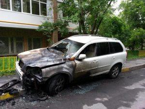 Экспертиза автомашины после пожара