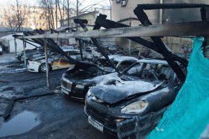 Экспертиза автомобиля после возгорания