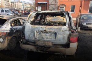 Экспертиза после пожара сгоревшей автомашины