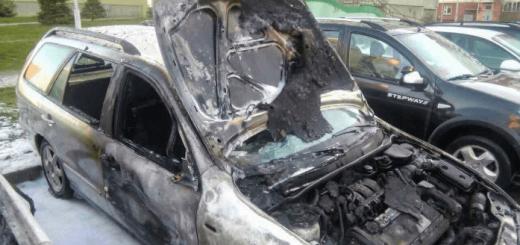 Экспертиза после пожара сгоревшего авто